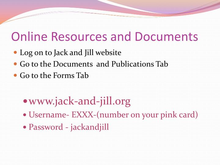 Online Resources and Documents