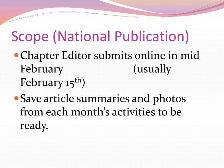 Scope (National Publication)