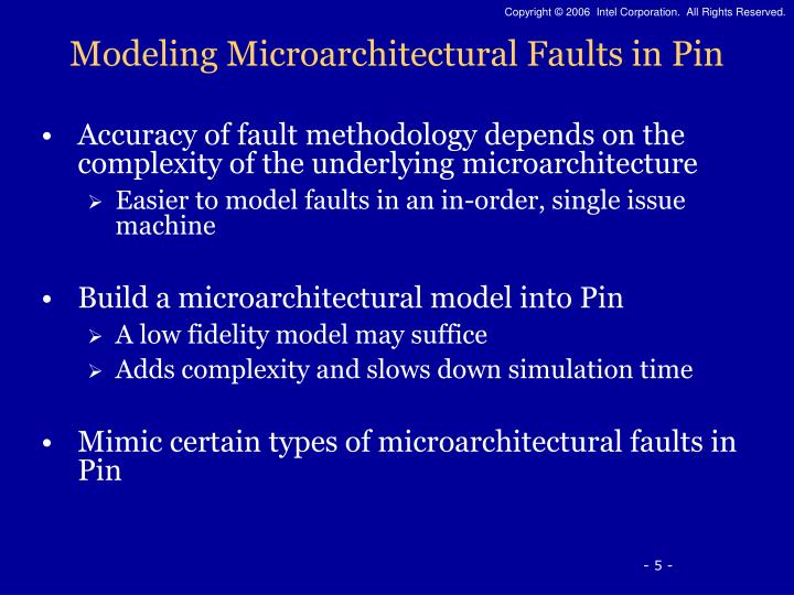 Modeling Microarchitectural Faults in Pin