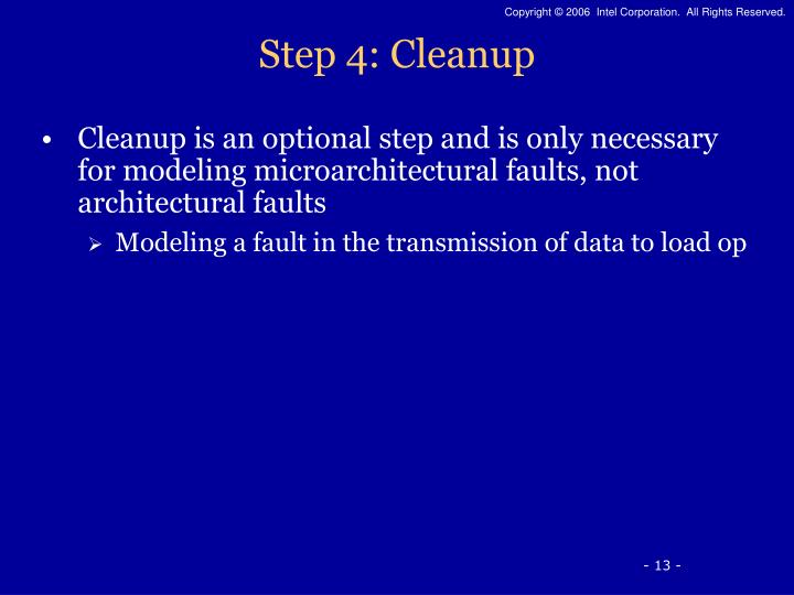 Step 4: Cleanup