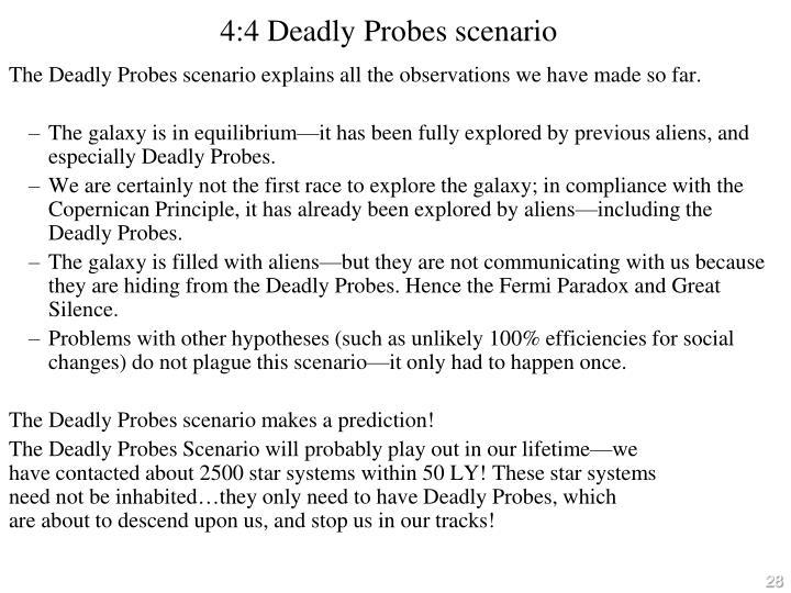 4:4 Deadly Probes scenario