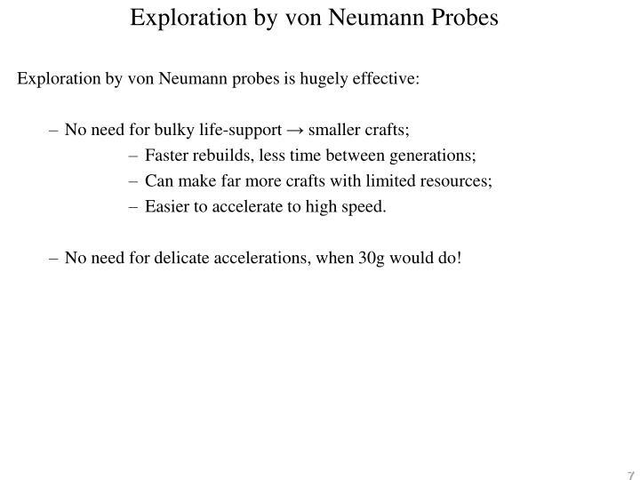 Exploration by von Neumann Probes