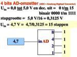 4 bits ad omzetter adc analoog digitaal convertor