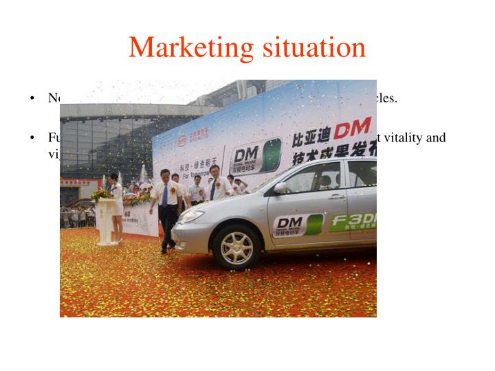 Marketing situation