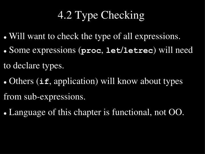 4.2 Type Checking
