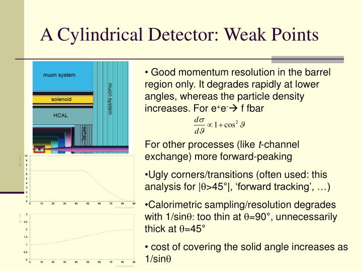 A Cylindrical Detector: Weak Points