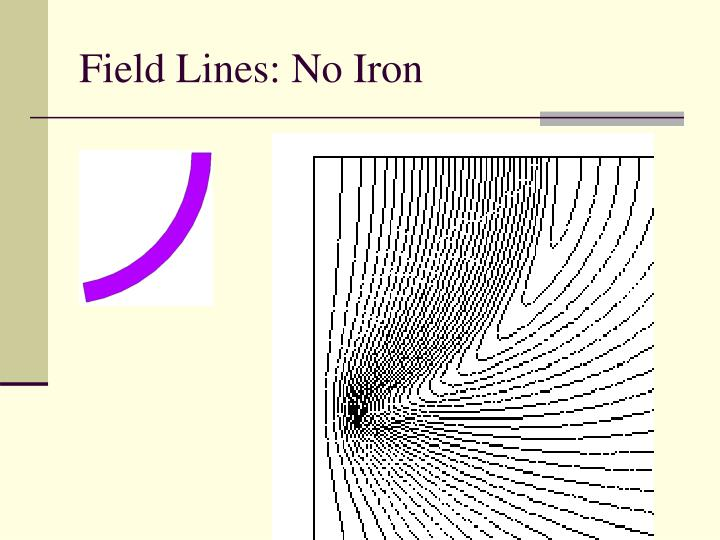 Field Lines: No Iron