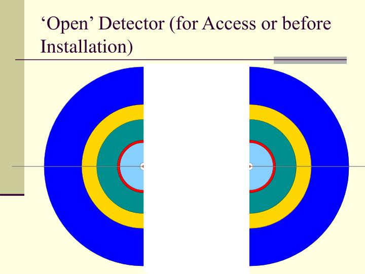 'Open' Detector (for Access or before Installation)