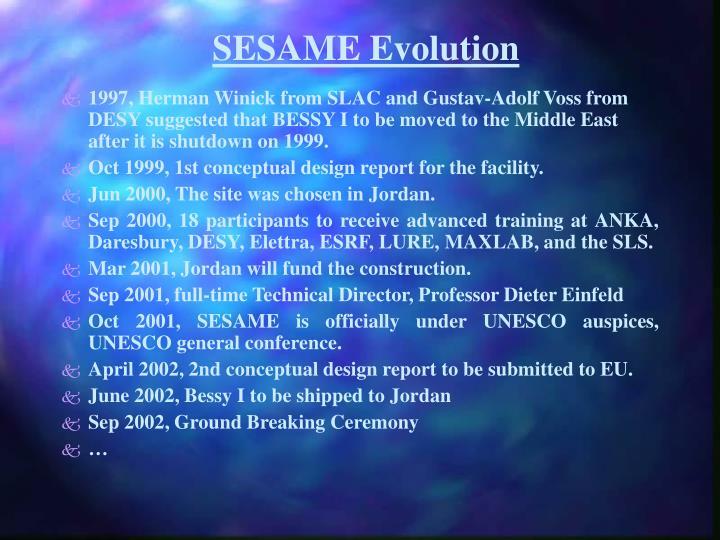 SESAME Evolution
