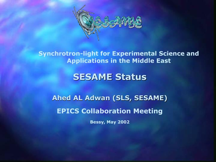 Synchrotron-light for Experimental Science and Applications in the Middle East
