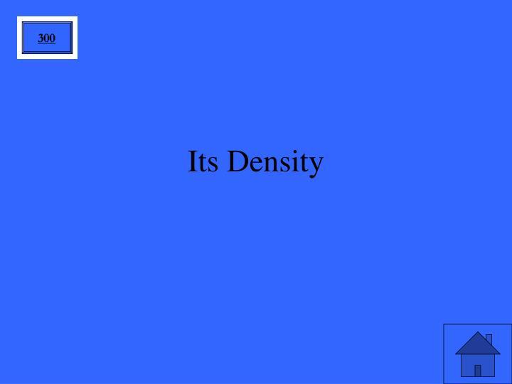 Its Density