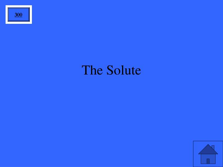 The Solute