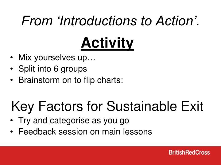 From 'Introductions to Action'.