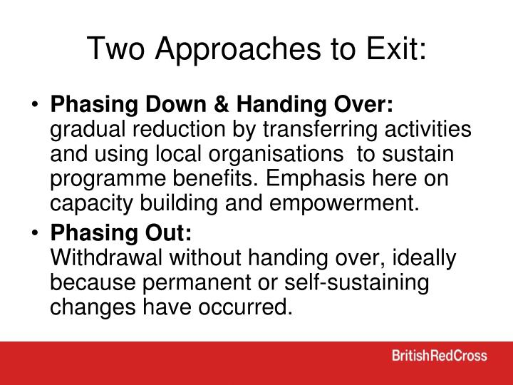 Two Approaches to Exit:
