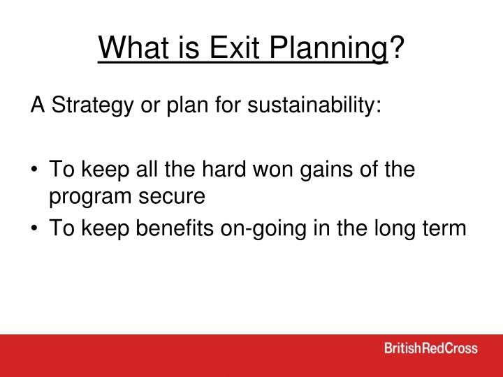 What is Exit Planning