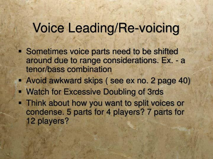 Voice Leading/Re-voicing