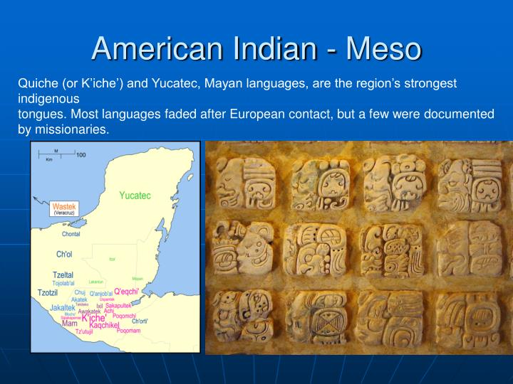 American Indian - Meso