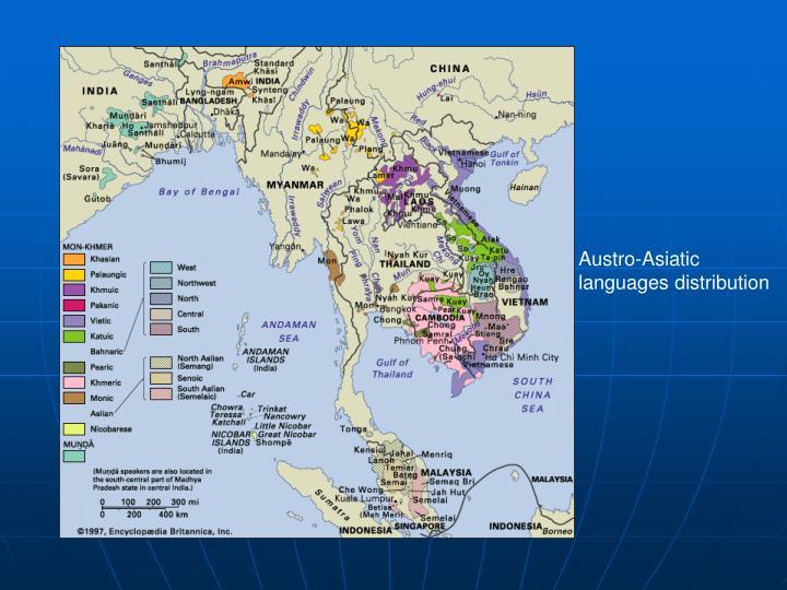 Austro-Asiatic languages distribution