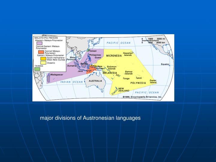 major divisions of Austronesian languages