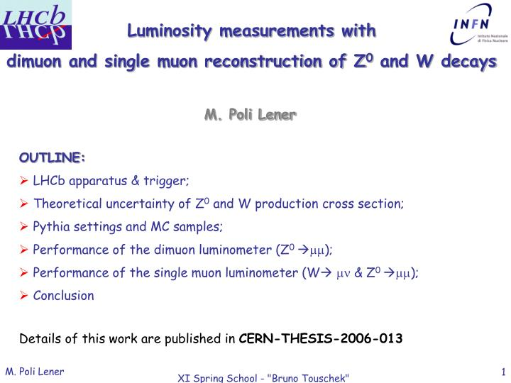 Luminosity measurements with