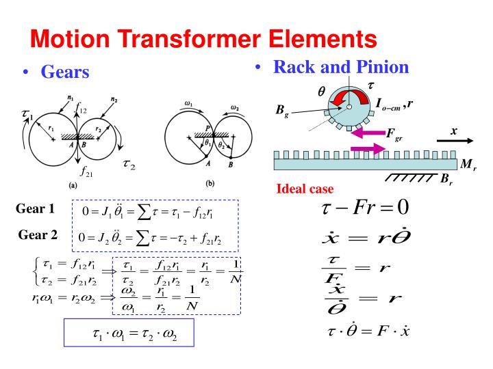 Motion Transformer Elements
