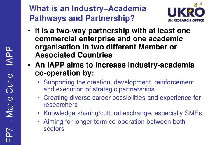 What is an Industry–Academia