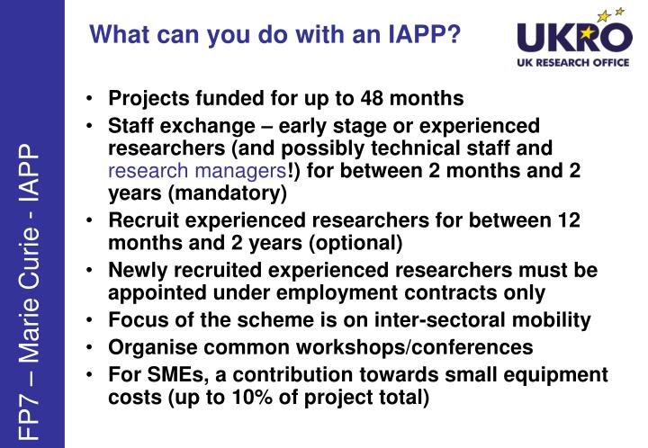 What can you do with an IAPP?