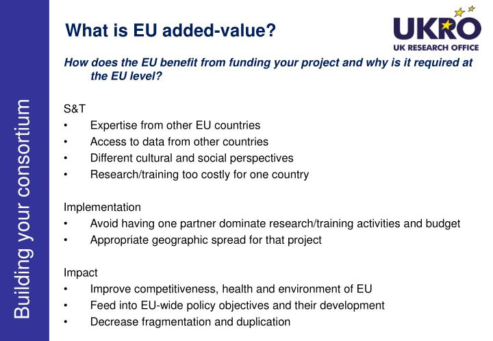 What is EU added-value?