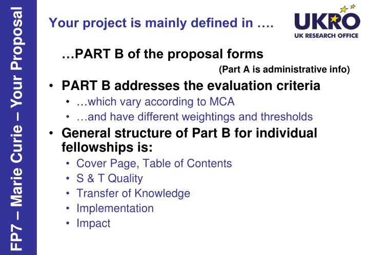 Your project is mainly defined in ….