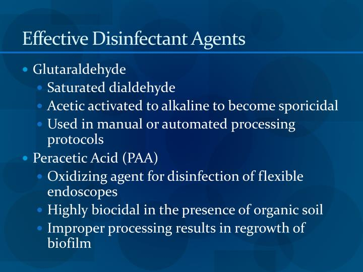 Effective Disinfectant Agents