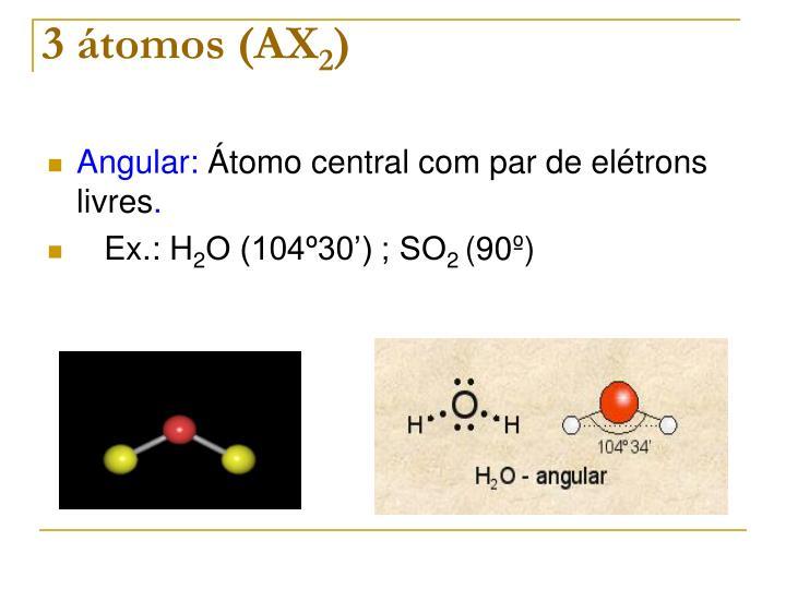 3 átomos (AX