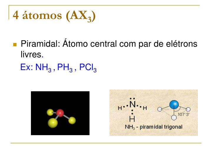 4 átomos (AX