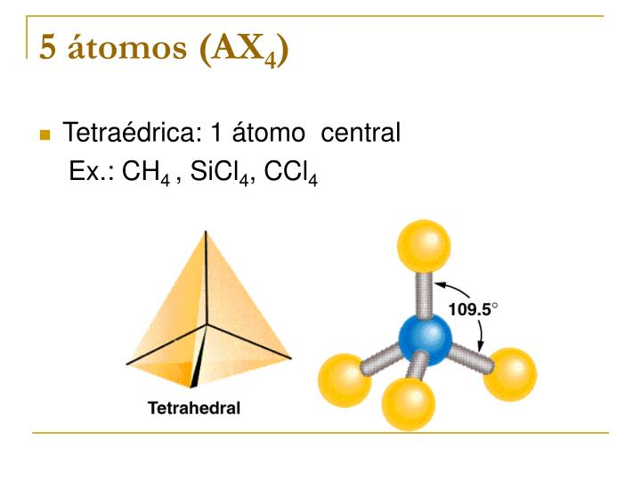 5 átomos (AX
