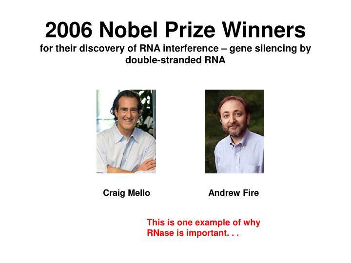 2006 Nobel Prize Winners