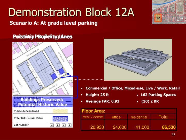 Demonstration Block 12A