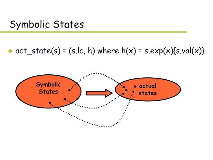 Symbolic States