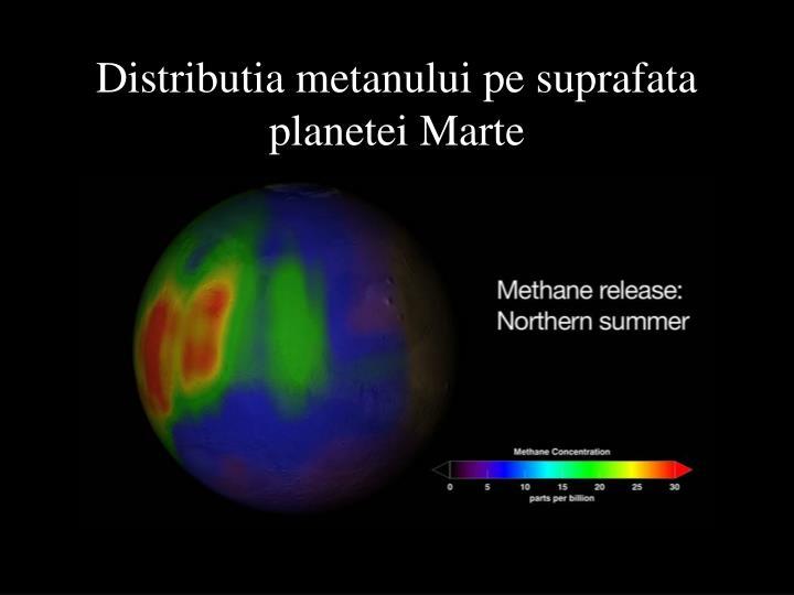 Distributia metanului pe suprafata planetei Marte