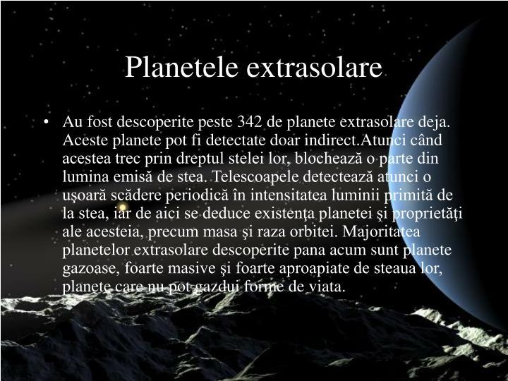 Planetele extrasolare
