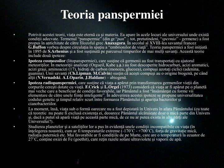 Teoria panspermiei