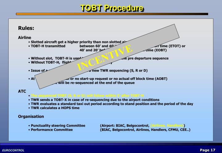 TOBT Procedure