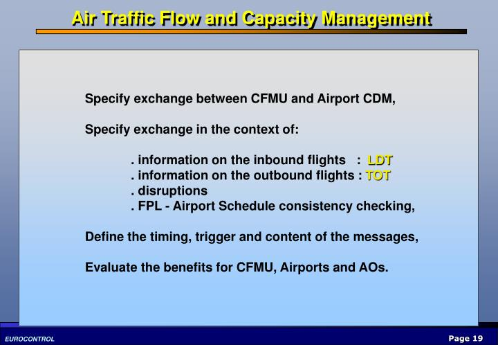 Air Traffic Flow and Capacity Management