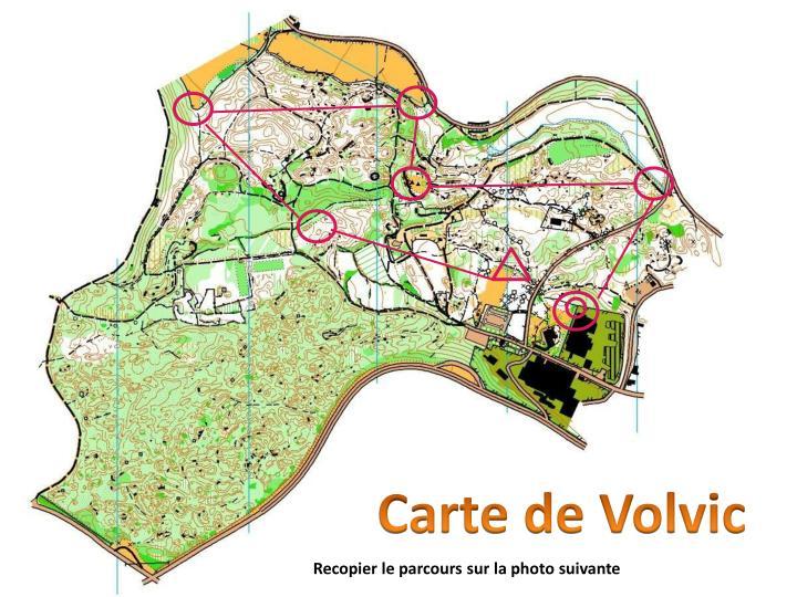 Carte de Volvic