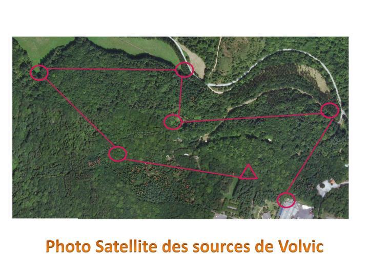 Photo Satellite des sources de Volvic