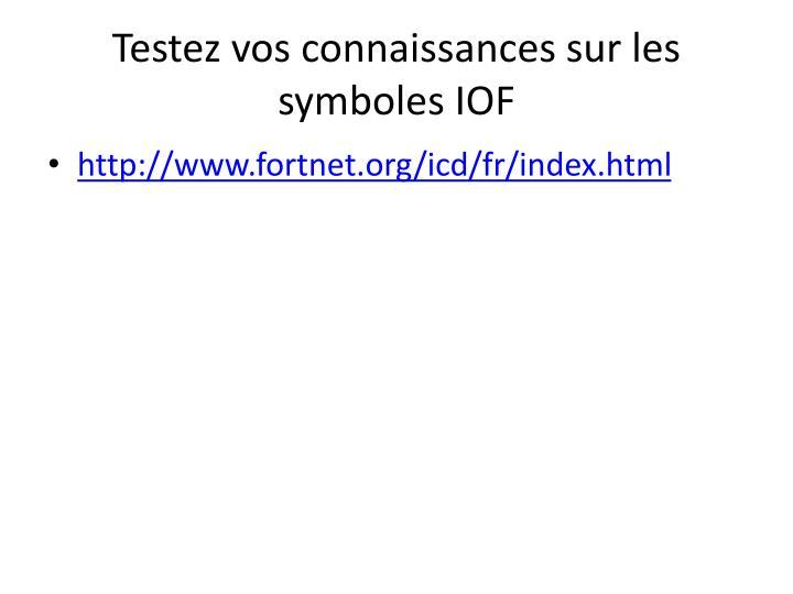 Testez vos connaissances sur les symboles IOF