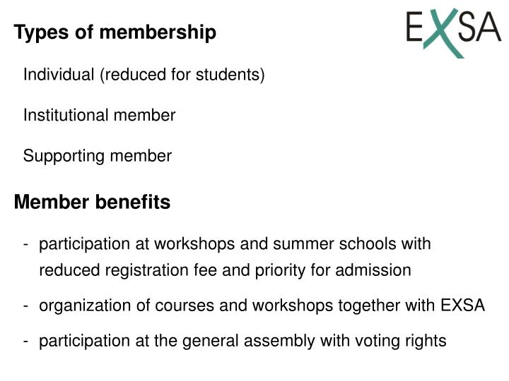 Types of membership
