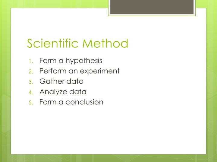 Scientific Method
