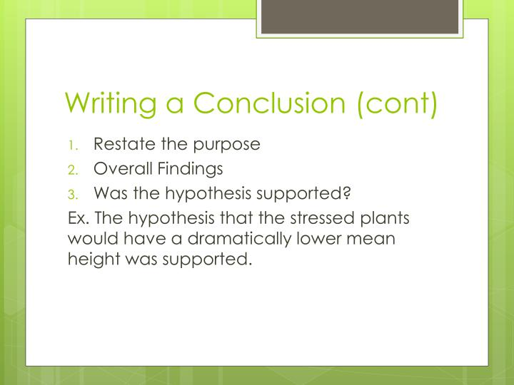 Writing a Conclusion (