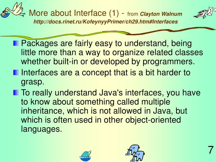 More about Interface (1) -