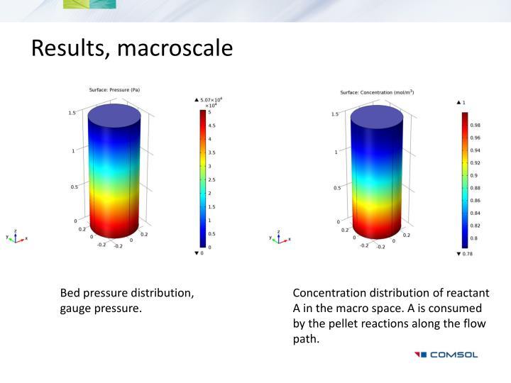 Results, macroscale
