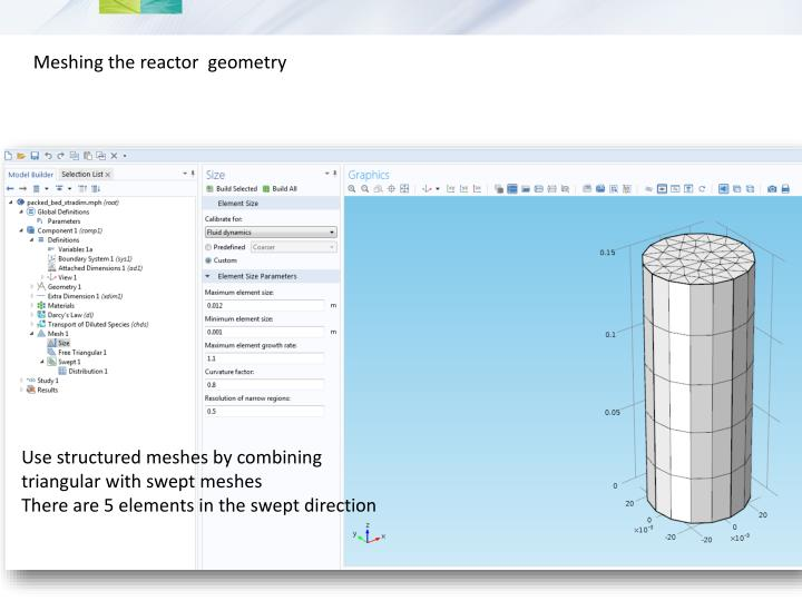 Meshing the reactor  geometry